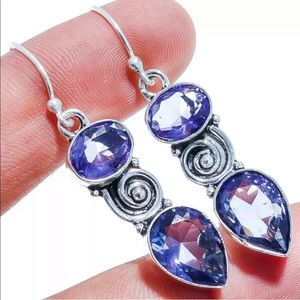"""2"""" drop dangle amethyst earrings"""